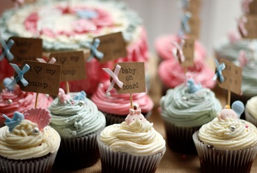 girls\boys baby shower cupcakes