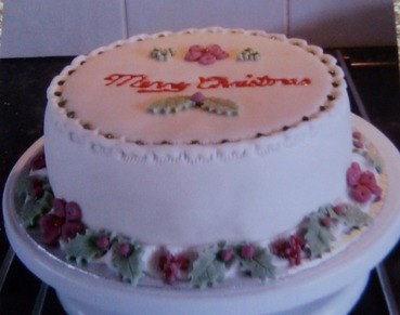 Merry christmas holly cake