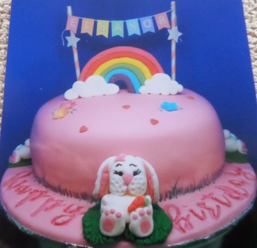 Girls rainbow bunny birthday