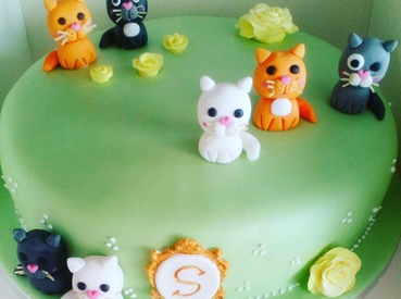 cute cat ladies birthday cake
