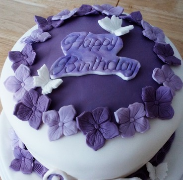 elegant purple ladies birthday
