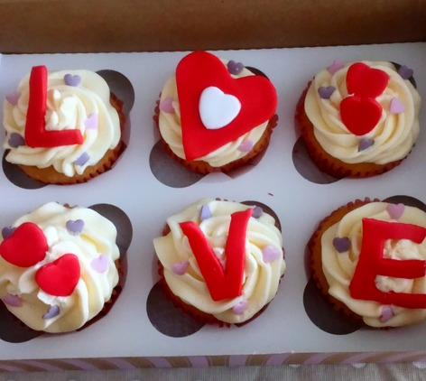 Love cupcakes box of 6