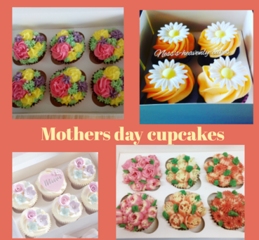 4 types of mothers day cupcakes