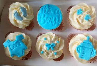 boys baby shower\christening cupcakes
