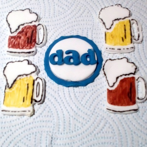 Beer jug fathers day cake toppers