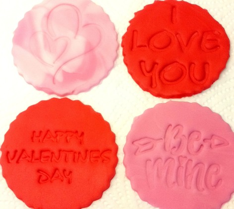 Love messages cupcake toppers