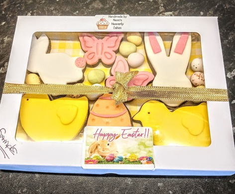 Packaged Easter biscuit box