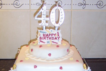 ladies 2 tier 40th birthday cake