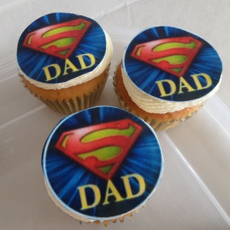 Super dad /fathers day cupcakes