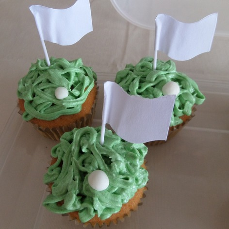 Golf inspired fathers day cupcakes/birthday