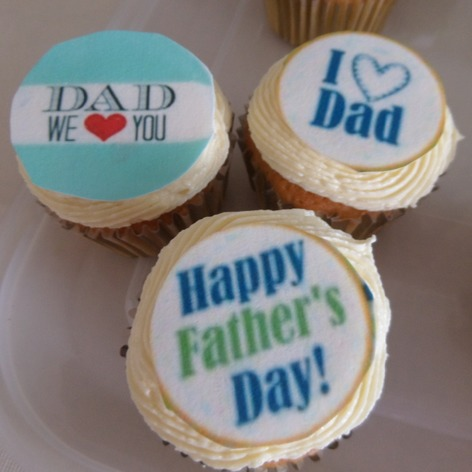 Happy fathers day, i love you dad cupcake toppers