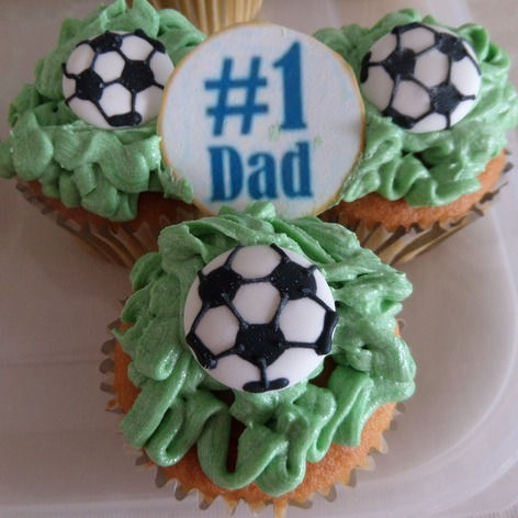 #Number 1, dad football inspired fathers day,birthday cupcakes