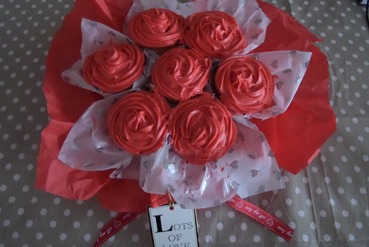 roses cupcake bouquet