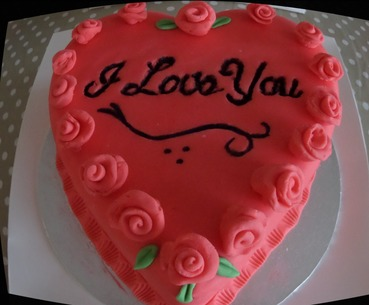 "engagement or valentines ""i love you"" cake"
